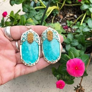 Kendra Scott Darcy Earrings in Turquoise and Drusy